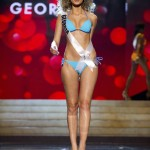 Miss Georgia 2012 Tamar Shedania competes during the Swimsuit Competition of the 2012 Miss Universe Presentation Show at PH Live in Las Vegas