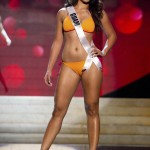 Miss Guam 2012 Aguero competes during the Swimsuit Competition of the 2012 Miss Universe Presentation Show at PH Live in Las Vegas