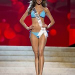 Miss Guatemala 2012 Calle competes during the Swimsuit Competition of the 2012 Miss Universe Presentation Show at PH Live in Las Vegas