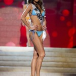 Miss Hungary 2012 Konkoly competes during the Swimsuit Competition of the 2012 Miss Universe Presentation Show at PH Live in Las Vegas