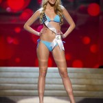 Miss Israel 2012 Makhuli competes during the Swimsuit Competition of the 2012 Miss Universe Presentation Show at PH Live in Las Vegas