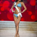 Miss Japan Hara competes during Swimsuit Competition of the 2012 Miss Universe Presentation Show at PH Live in Las Vegas