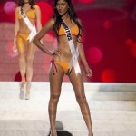 Miss Mauritius 2012 Dilchand competes during the Swimsuit Competition of the 2012 Miss Universe Presentation Show at PH Live in Las Vegas