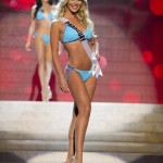 Miss Paraguay Eckert competes during the Swimsuit Competition of the 2012 Miss Universe Presentation Show at PH Live in Las Vegas