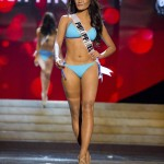 Miss Philippines 2012 Tugonon competes during the swimsuit competition of the 2012 Miss Universe Presentation Show at PH Live in Las Vegas