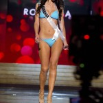 Miss Romania Duca competes during Swimsuit Competition of the 2012 Miss Universe Presentation Show at PH Live in Las Vegas