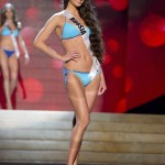 Miss Russia Golovanova competes during Swimsuit Competition of the 2012 Miss Universe Presentation Show at PH Live in Las Vegas