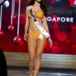 Miss Singapore 2012 Tan competes during the Swimsuit Competition of the 2012 Miss Universe Presentation Show at PH Live in Las Vegas