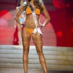 Miss Sweden Beronius competes during the Swimsuit Competition of the 2012 Miss Universe Presentation Show at PH Live in Las Vegas