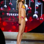 Miss Turkey Ozkul competes during Swimsuit Competition of the 2012 Miss Universe Presentation Show at PH Live in Las Vegas