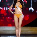 Miss Vietnam 2012 Diem Huong Luu competes during the Swimsuit Competition of the 2012 Miss Universe Presentation Show at PH Live in Las Vegas