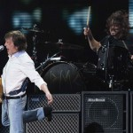McCartney performs with Grohl during the