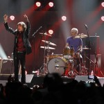 Ron Wood, Mick Jagger, Charlie Watts and Keith Richards of the Rolling Stones perform during the