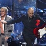 Roger Daltrey and Pete Townshend of The Who perform during the