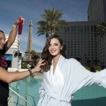 Miss Universe Croatia 2012 Elizabeta Burg gets her hair done at Planet Hollywood Resort and Casino in Las Vegas