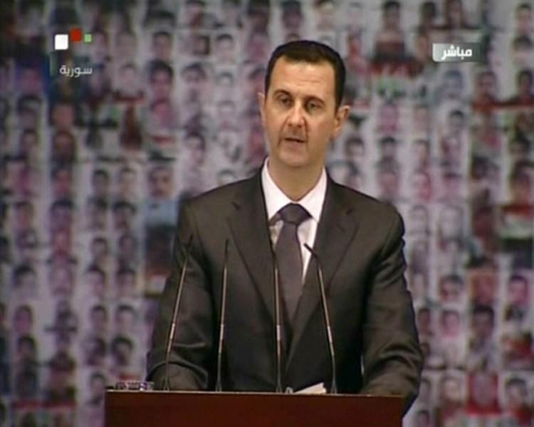 SYRIAN TV / AFP