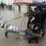 PALESTINIAN-GAZA-WEATHER-FLOODS