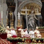 Pope Benedict XVI leads a mass at Saint Peter's Basilica at the Vatican