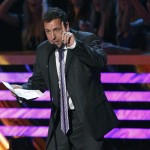 Adam Sandler speaks after being named