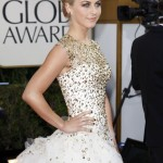 """Actress Julianne Hough of the film """"Rock of Ages"""" arrives at the 70th annual Golden Globe Awards in Beverly Hills"""