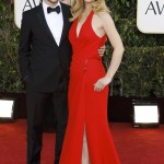 Actors Hugh Dancy and wife Claire Danes arrive at the 70th annual Golden Globe Awards in Beverly Hills