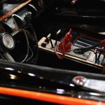 The interior of the original Batmobile is displayed during the Barrett-Jackson collectors car auction in Scottsdale, Arizona