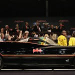 The original Batmobile is displayed on stage during the Barrett-Jackson collectors car auction in Scottsdale, Arizona