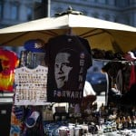 Vendors sell souvenirs near the White House in Washington