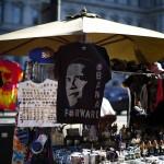 Vendors sell souvenirs near the White House in Washington