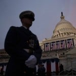 The U.S. Capitol is pictured at sunrise before the inauguration of U.S. President Barack Obama in Washington