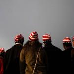Spectators are seen before the inauguration of U.S. President Barack Obama in Washington