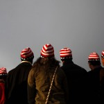 Spectators are seen before the inauguration of U.S. President Barack Obama in Washington