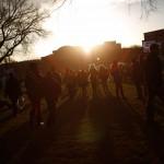 Spectators arrive before the inauguration of U.S. President Barack Obama, in Washington