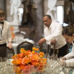 Catering staff prepare for the Inaugural luncheon in Statuary Hall, which is after U.S. President Obama ceremonial swearing in at the U.S. Capitol, in Washington