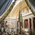 The Inaugural luncheon room is photographed at Statuary Hall in Washington