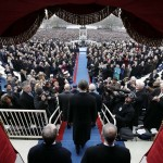 President Barack Obama arrives at his second inauguration at the U.S. Capitol during the 57th Presidential Inauguration in Washington