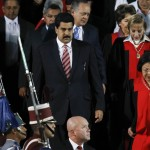 Venezuela's Vice President Nicolas Maduro and the President of the Venezuelan Supreme Court of Justice Luisa Estella Morales, attend a ceremony to mark opening of the judicial year at Supreme Court of Justice in Caracas