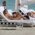 Aida Yespica in vacanza a Miami
