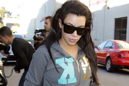 Pregnant Kim Kardashian hits the gym for the second day in a row