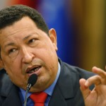 Venezuelan President Hugo Chavez speaks during a news conference after winning elections in Caracas