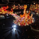 A snake lantern is seen among other Chinese New Year decorations at Yuyuan Garden, in downtown Shanghai
