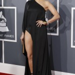 Jennifer Lopez arrives at the 55th annual Grammy Awards in Los Angeles
