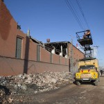 Damage is seen after a meteorite passed above the Urals city of Chelyabinsk