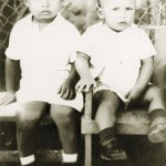 Handout photo of Venezuela's President Chavez and brother Adan during their childhood in hometown Sabaneta