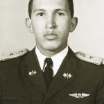 Handout photo of Venezuela's President Chavez as second lieutenant at the Military Academy in Caracas