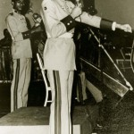 Handout photo of Venezuela's President Chavez at party during his time at Military Academy in Caracas