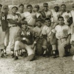 Venezuela's President Hugo Chavez is pictured with the army baseball team during his Military Academy years in this 1972 handout photo