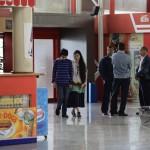 Cuba's best-known dissident, blogger Yoani Sanchez, walks with her son Teo Escobar at Havana's Jose Marti International Airport