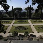 The garden inside the summer residence of Pope Benedict XVI is seen in Castel Gandolfo