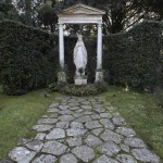 The statue of Virgin Mary is seen inside the summer residence of Pope Benedict XVI in Castel Gandolfo